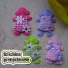 Mixed Cute Doll Floral Appliques Padded Craft Sewing Scrapbooking Trim APQP