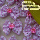 Pink Bow With Rhinestone Padded Appliques Scrapbooking Cardmaking Craft APQL