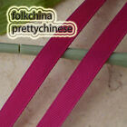 50 Yards Burgundy Grosgrain Ribbons Sewing Scrapbooking Craft 6mm,10mm,15mm #44