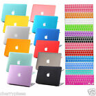"""11color Rubberized Frosted Hard Case Shell Cover for Macbook Air PRO 13"""" 15"""" +KB"""