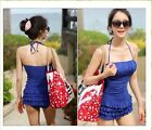 s21 New Padded Tankini Swimwear Swimsuit UK 6 8 10 RED*BLUE Bathing Suit