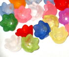 Acrylic Flower Beads Lucite Tulip Bell Flowers 10mm Mixed Assortments 50