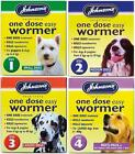Johnsons One Dose Easy Wormer Tablet Worming Dogs Dewomer Small Medium Large