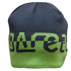 Dare2b Kid's Brimfull Grey and Green Winter and Ski Wear Beanie Hat.
