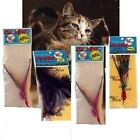 Da Bird feather Fur Fun Kitty Puff Sparkler refills Great Cat teaser USA MADE