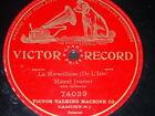 OPERA 78 rpm RECORD Victor GP MARCEL JOURNET La Marsellaise DE L´ISLE French