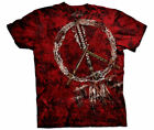 PEACE PIPES - Red T-Shirt - The Mountain- Tie Dyed Tee -Native American -10-3040