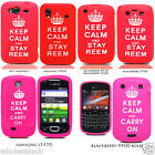 Red Keep Calm & Stay Reem Hot Pink Keep Calm & Carry On Mobile Phone Case Cover