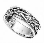 Sterling Silver 7mm Patterned Wedding Band Ring 3.50grams(Sizes L - Z available)