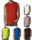 GILDAN Men's Size S-XL 2XL Ultra Cotton Sleeveless Muscle Sports T-Shirt G2700 image