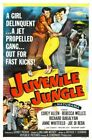 JUVENILE JUNGLE 01 VINTAGE B-MOVIE REPRODUCTION ART PRINT A4 A3 A2 A1