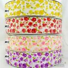"1.5""38mm white red/purple/yellow/red rose grosgrain ribbon bow craft 5 yards"