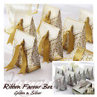 Vintage Style Wedding Favour Box + Ribbon Party Sweet Candy Jewellery Gift Bag
