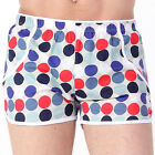 POP POLKA DOTS COLORFUL PATTERN MEN HOME SHORTS COTTON BOTTOMS UNDERWEAR TRUNKS