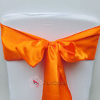 Orange Satin Chair Cover Bow Sash Wedding Party Decor Banquet WED-SCS-59