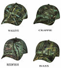 Camouflage Fishing Cap, Bass,Walleye, Crappie, Redfish, Baseball Hat fishouflage