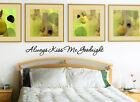 Always Kiss Me Goodnight Vinyl Wall Decal Sticker Quote Roma
