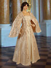 Medieval Renaissance Dress Gown Handmade from Brocade Baroque Damask