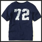 "NWT Children Place Boy NAVY TEES LOGO ""72"" Graphic T-shirt 6-9M 9-12M XS S M"