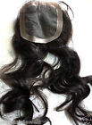 Full Lace Closure Human Indian Remy Remi Quality Hair Partial Wig Color 1B Black