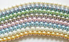 1 Strand Czech Glass Pearl Beads - 8mm - approx 50 Beads - Choose Colour