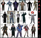 Mens HALLOWEEN Zombie Ghoul Scream Skeleton Death Werewolf Fancy Dress Costume