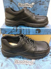 "SALE Bootleg by Clarks Junior Boys Black Leather Shoes""AIRMOC BL"" F-G -fittings"