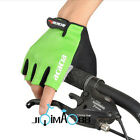 Sales Cycling Bike Bicycle mercerized cotton Half Finger Gloves Green Size M-XL