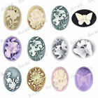 Resin Vintage Flatback Oval Butterfly Flower Cabochon Cameo Wholesale Lots RB686