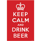 Keep Calm and Drink Beer Wall Poster - Beer Lover Gift - Novelty Bar Decoration