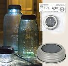 New! SILVER SOLAR Powered Mason Canning Fruit Ball Jar LED LID LIGHT Rustic Lamp