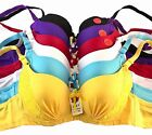 PACK OF 6 pcs BRAS, UNDERWIRE LACE Push Up Bra CUP SIZE 34-44 B C D NEW #99959BC