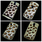 Leopard Bling Crystal Diamond Rhinestone Snap-On Back Hard Case Protect Cover