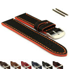 Genuine Leather Watch Band PORTO Stainless Steel Buckle- MV