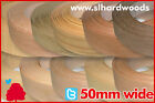 Pre Glued Iron On Edging Real Wood Veneer Edge Banding Tape 50mm Various Species