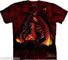 FIREBALL DRAGON - Red/Black T-Shirt - The Mountain Classic - Tie-Dye Tee 10-3127