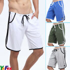 NWT Trendy Mens Gym Activewear COMBAT SPORTS SHORTS TROUSERS COTTON PLAIN LONG