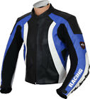 RTX Violator Sport SUZUKI GSXR Blue Motorcycle Cowhide Leather Jacket - Any Size