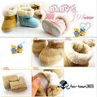 Baby Infant Toddler Shoes Fur Lining Boys Girl Warm Winter Snow Boots 6-24Months