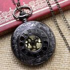 Antique Roman Vintage Style Steampunk Pocket Clocket Watch Pendant Necklace Gift