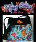 Laurel Burch FLYING COLORS HANDBAG  KIT - Rare Jewel Tone Fabric  Gold Metallics