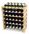 Modular Wine Rack 24-72 Bottles Solid Beachwood 6 Bottles Across up to 12 Rows