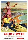 Aberystwyth Where Holiday Fun Begins. BR/WR Vintage Travel Poster by Harry Riley