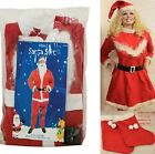 Santa Costume Father Christmas Suit Outfit Fancy Dress 5 Piece L XL