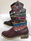 Girls Cutie Qt Pull On Mid Calf Boots with Aztec Print H5012