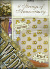 Golden (50th) Wedding Anniversary Decorations - Banners, balloons & Confetti