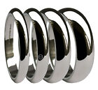 18ct White Gold Wedding Rings D Shaped X Heavy 750 HM 2mm 3mm 4mm 5mm 6mm Bands