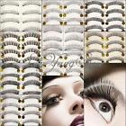 10 Pair 12 Models Natural Thick Handmade False Eyelashes Eye lash Transparent
