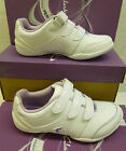 "Clarks Girls White Leather Trainer ""YOGA SPIN"" G-Fitting"
