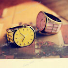Candy Color Retro Vintage Fashion Small Watch Ring Pink/Yellow Choose FREE SHIP